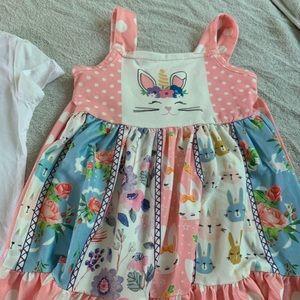 Other - bunny/ Unicorn floral twirl dress